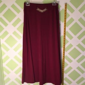 Dresses & Skirts - Maroon long fancy skirt with some jewels
